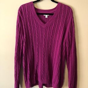 Croft & Barrow Magenta Sweater